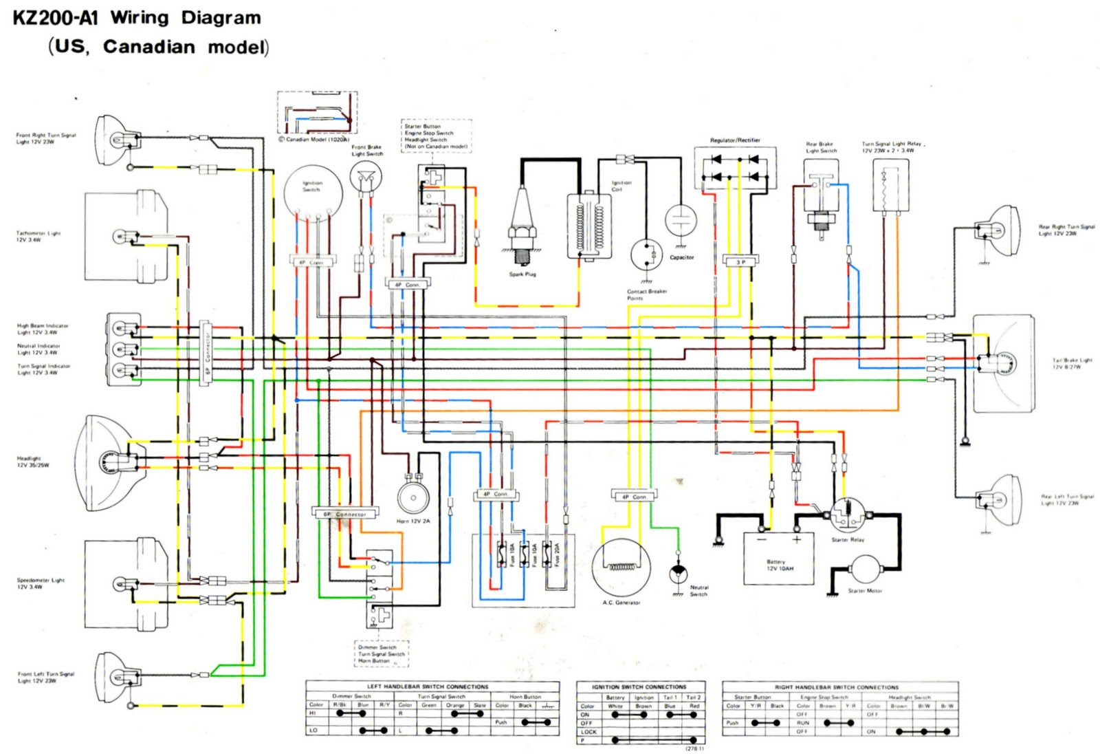 Looking For Wiring Diagram 1978 Kz200