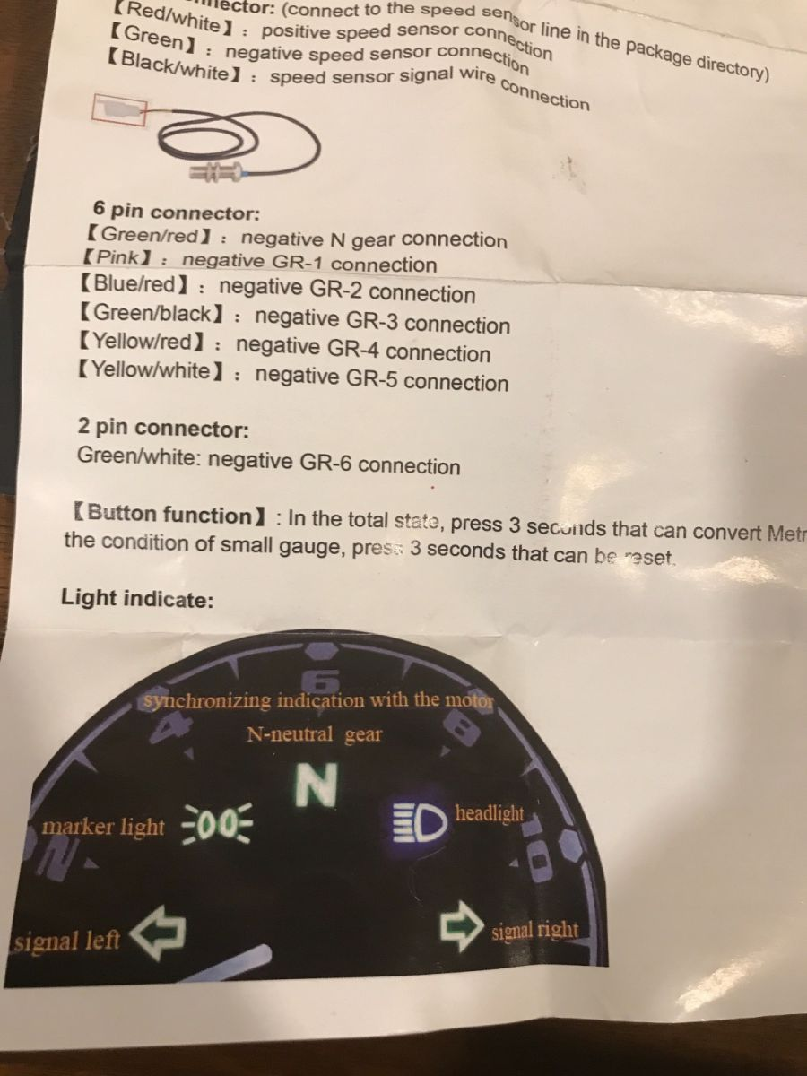 How To Wire Aftermarket Speedometer Tachometer