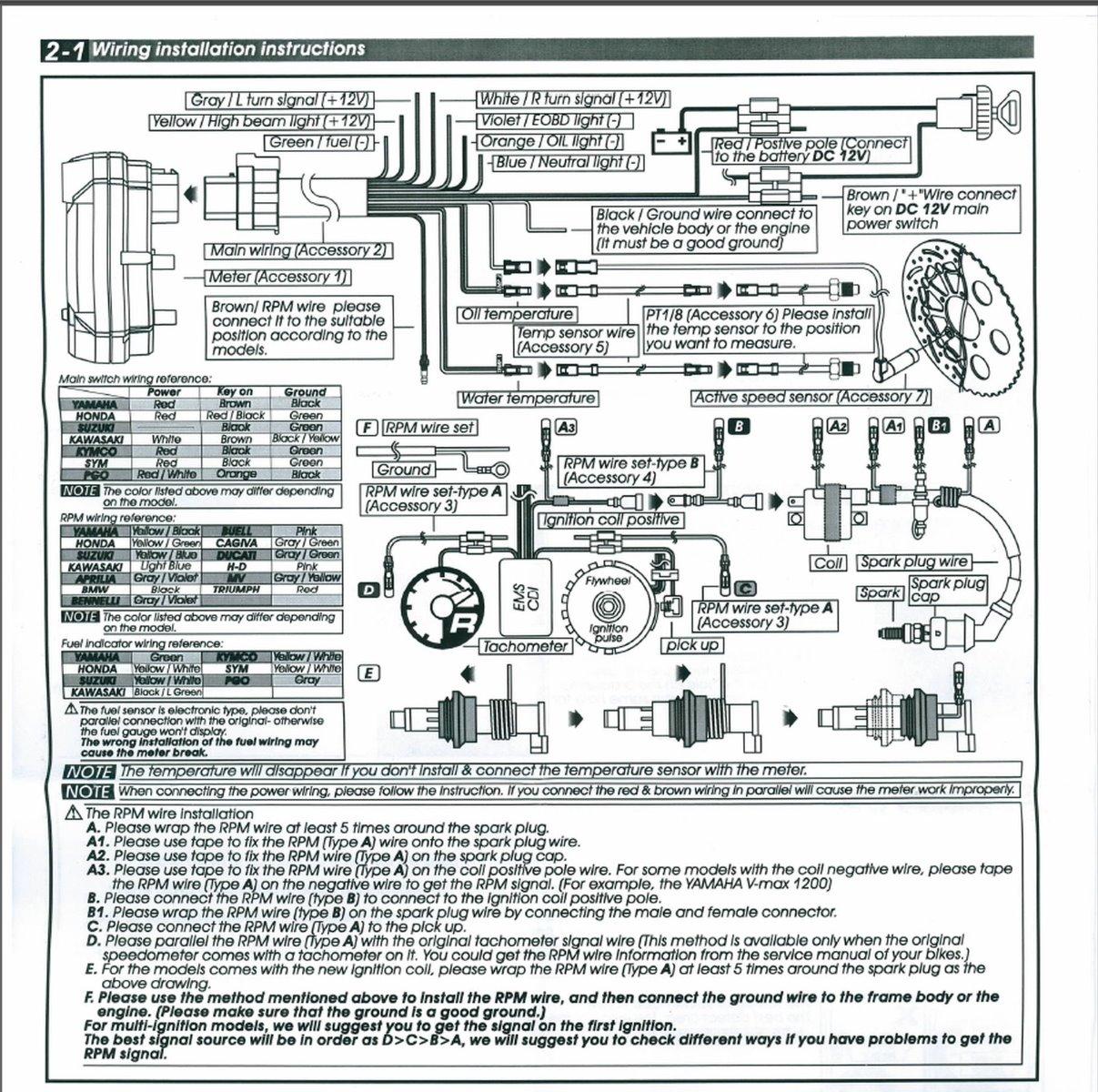 How to wire aftermarket speedometer tachometer. - KZRider Forum - KZRider,  KZ, Z1 & Z Motorcycle Enthusiast's Forum | Aftermarket Electronic Speedometer Wiring Diagram |  | KZRider