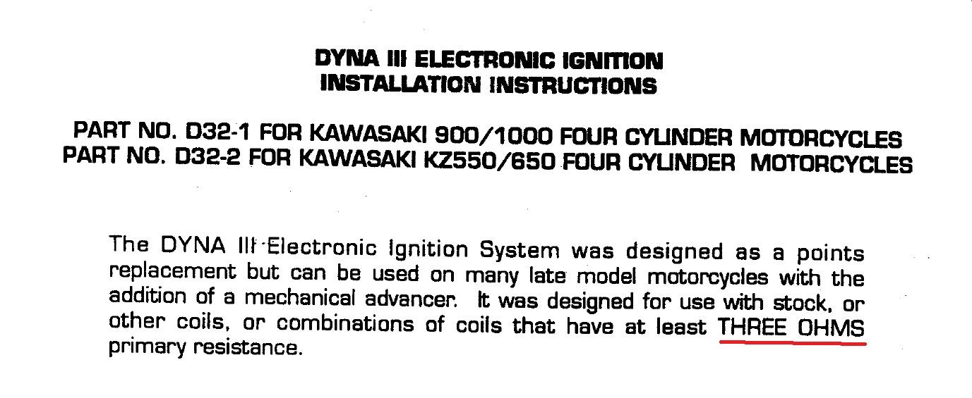1979 Kz1000-c2 No Spark Dyna Iii Ignition System