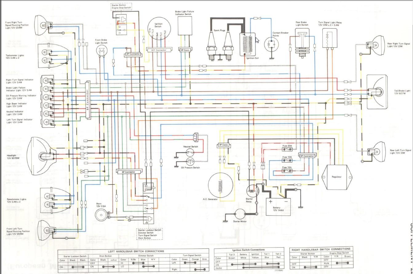 [SCHEMATICS_4US]  4B9 1980 Kawasaki Kz750 Twin Wiring Diagram | Wiring Library | Kz750 Four Wiring Diagram |  | Wiring Library