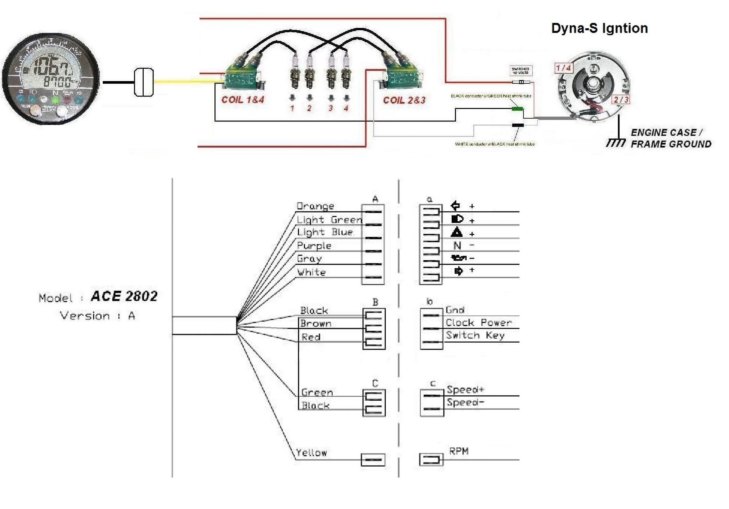 Tachometer Wiring Diagram Tach Together With Tachometer Wiring Diagram