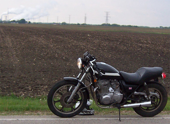 1980 KZ440 Cafe, Wisconsin roads