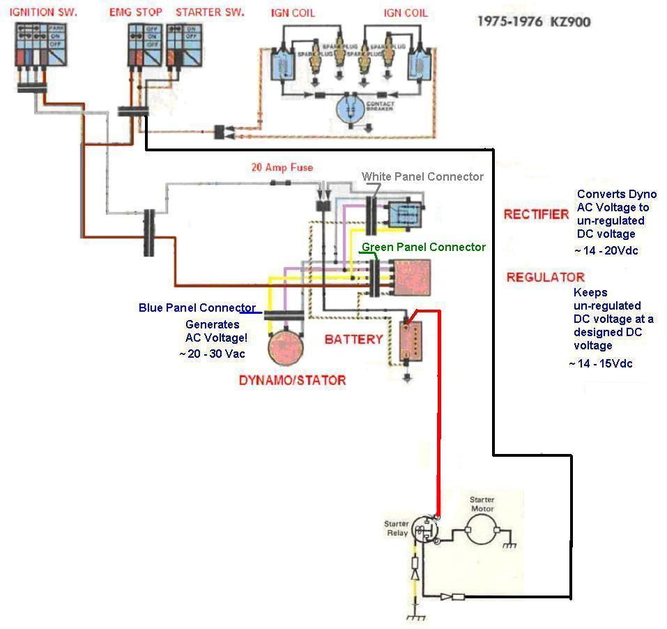 Ford Alternator Voltage Regulator Wiring Diagram Layout 1986 F 350 1977 Kz1000 Simple Kzrider Forum 150 23
