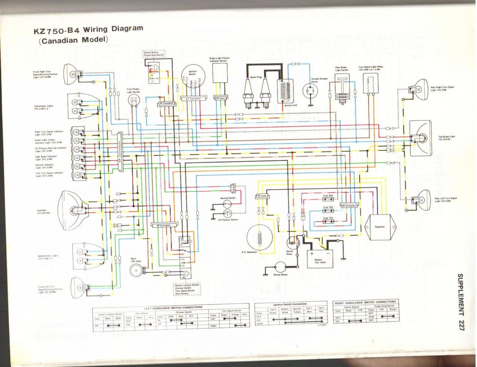 1978 Kz750 Wiring Diagram Diagrams Schema Kawasaki Schematic Breaking Up Kzrider Forum Kz Z1 Z Motorcycle