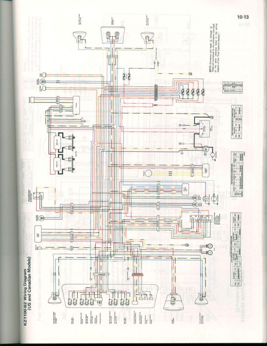 Color Wiring Diagram For 82 Kz1100 Us  U0026 Cananda