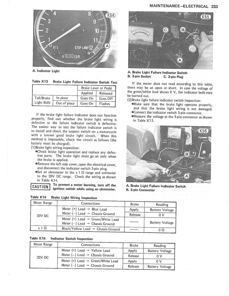 Struggling Mightily With My 81 Gpz550 Wiring Harness Help Id Pics Kawasaki Gpz 550 Diagram Brakelightfailureunit