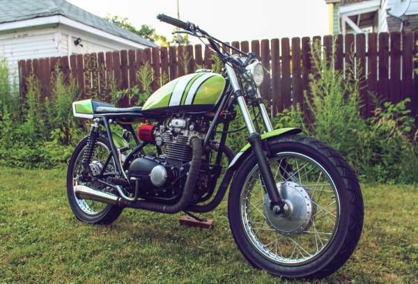 Expensive But Nicely Done Kz400 Scrambler WI
