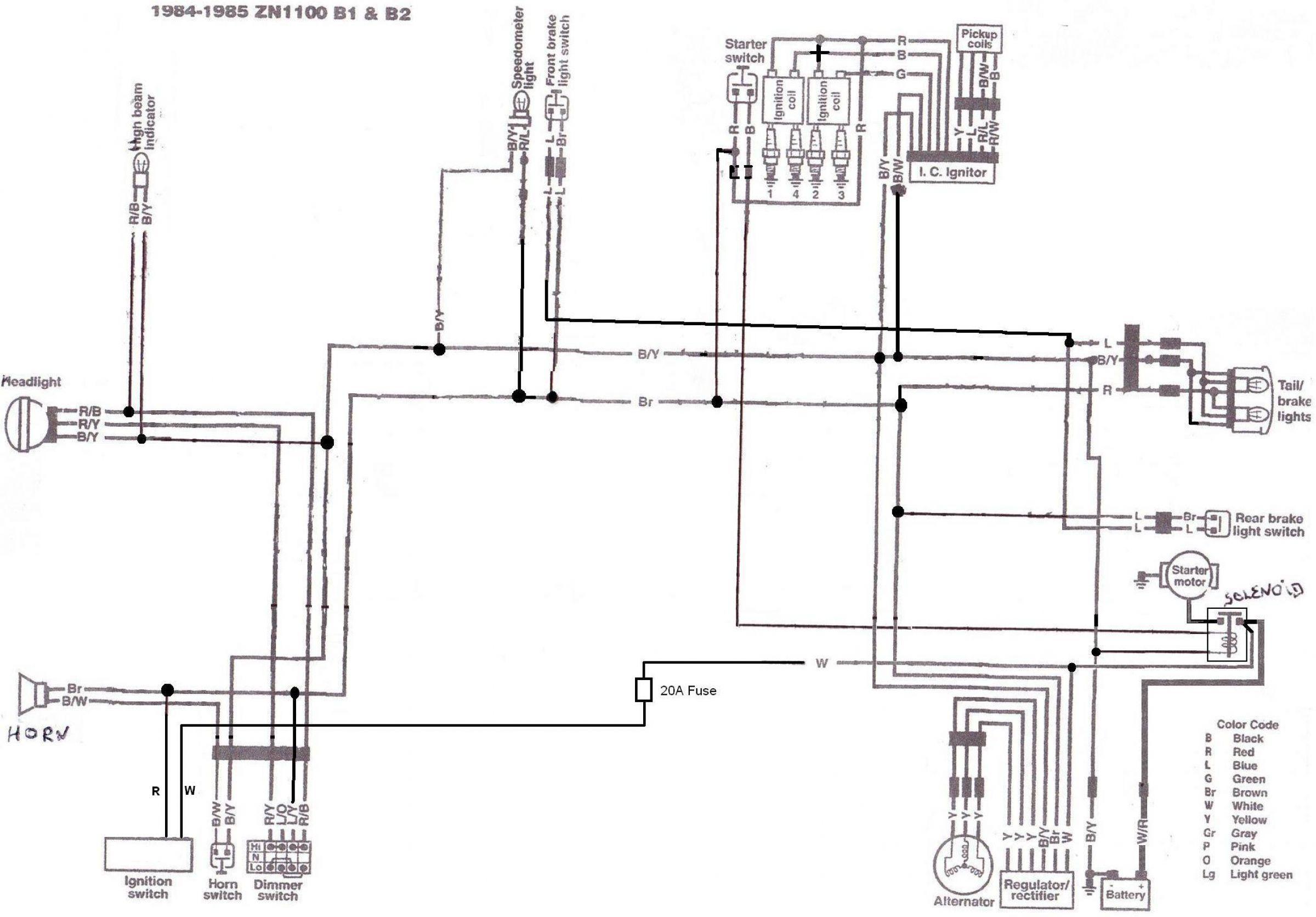 kawasaki gpz 1100 wiring diagram kawasaki klr 1100